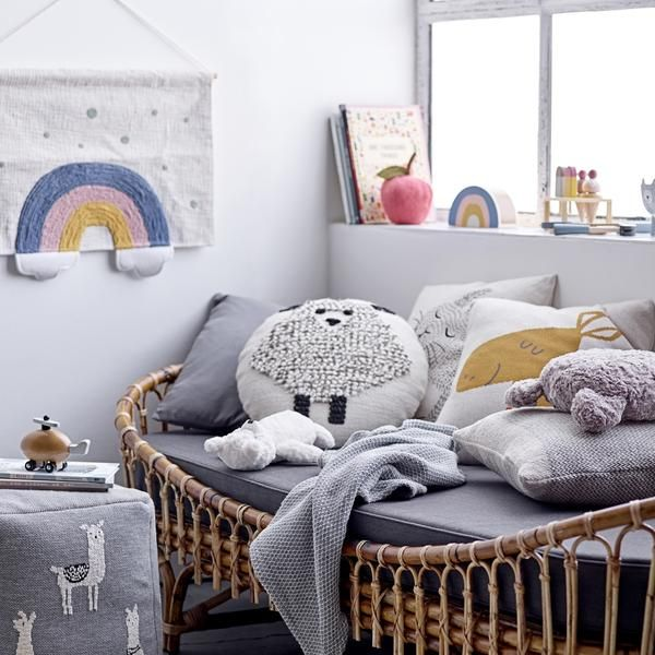 Kids Rainbow Wall Decor | Kid beds, Rainbow wall, Kids room