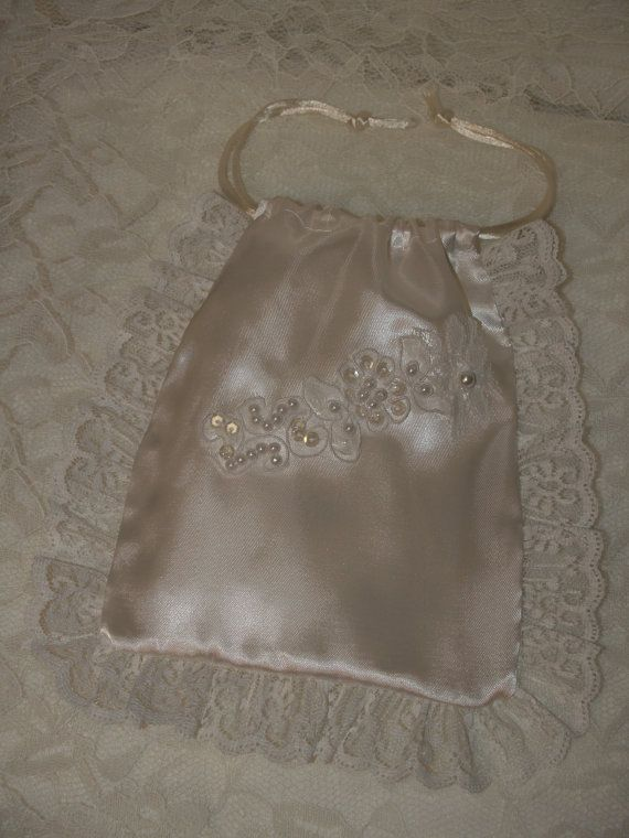 Bridal Money Bag Satin pouch for brides necessities adorned with