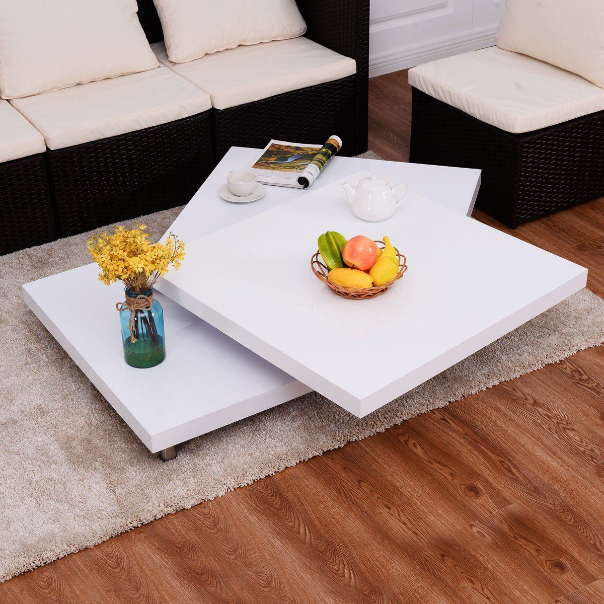 new mtn g square rotating coffee table
