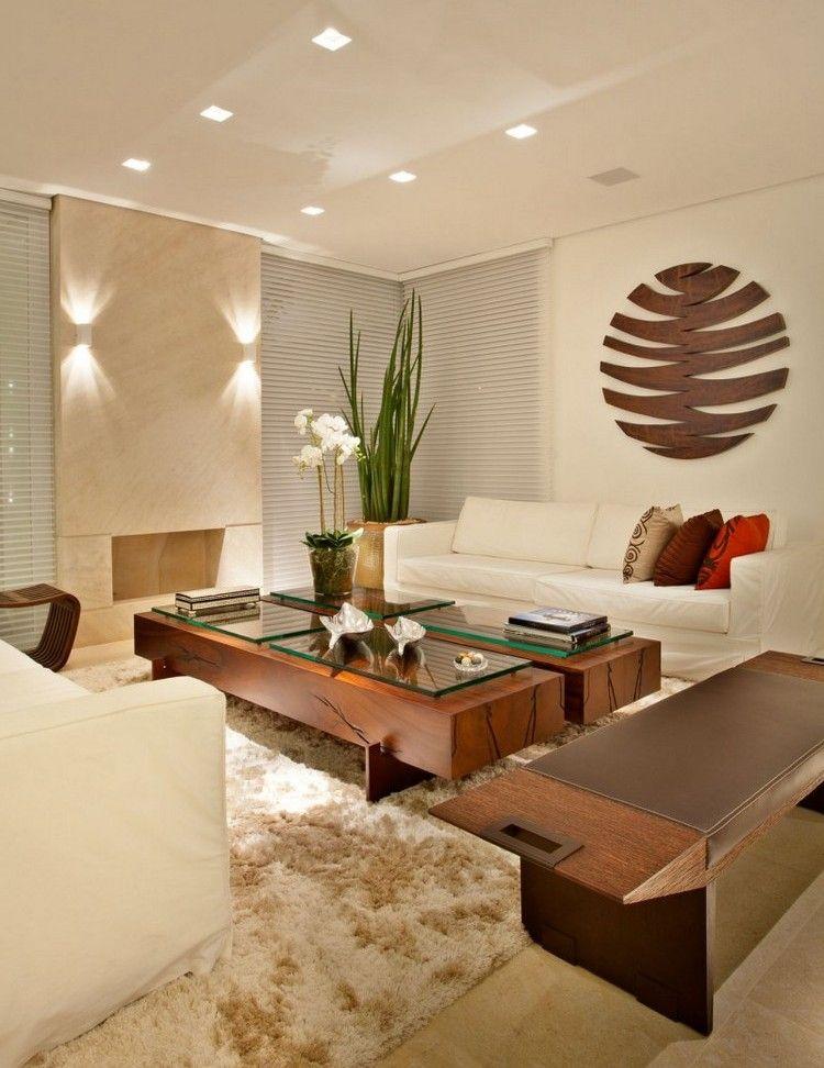 Modern wohnen massivholz-couchtische-creme-einrichtung | Wohnzimmer ...