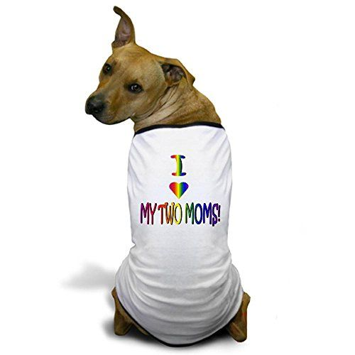 CafePress  I Heart My 2 Moms  Dog TShirt Pet Clothing Funny Dog Costume ** Details can be found by clicking on the image.