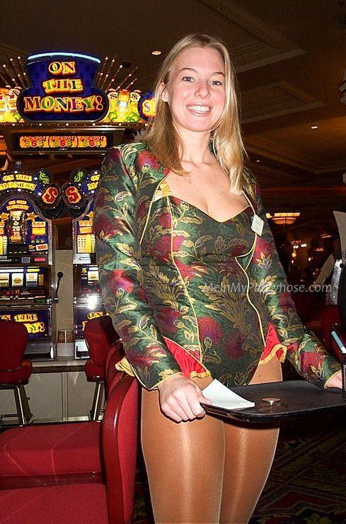waitress wearing pantyhose