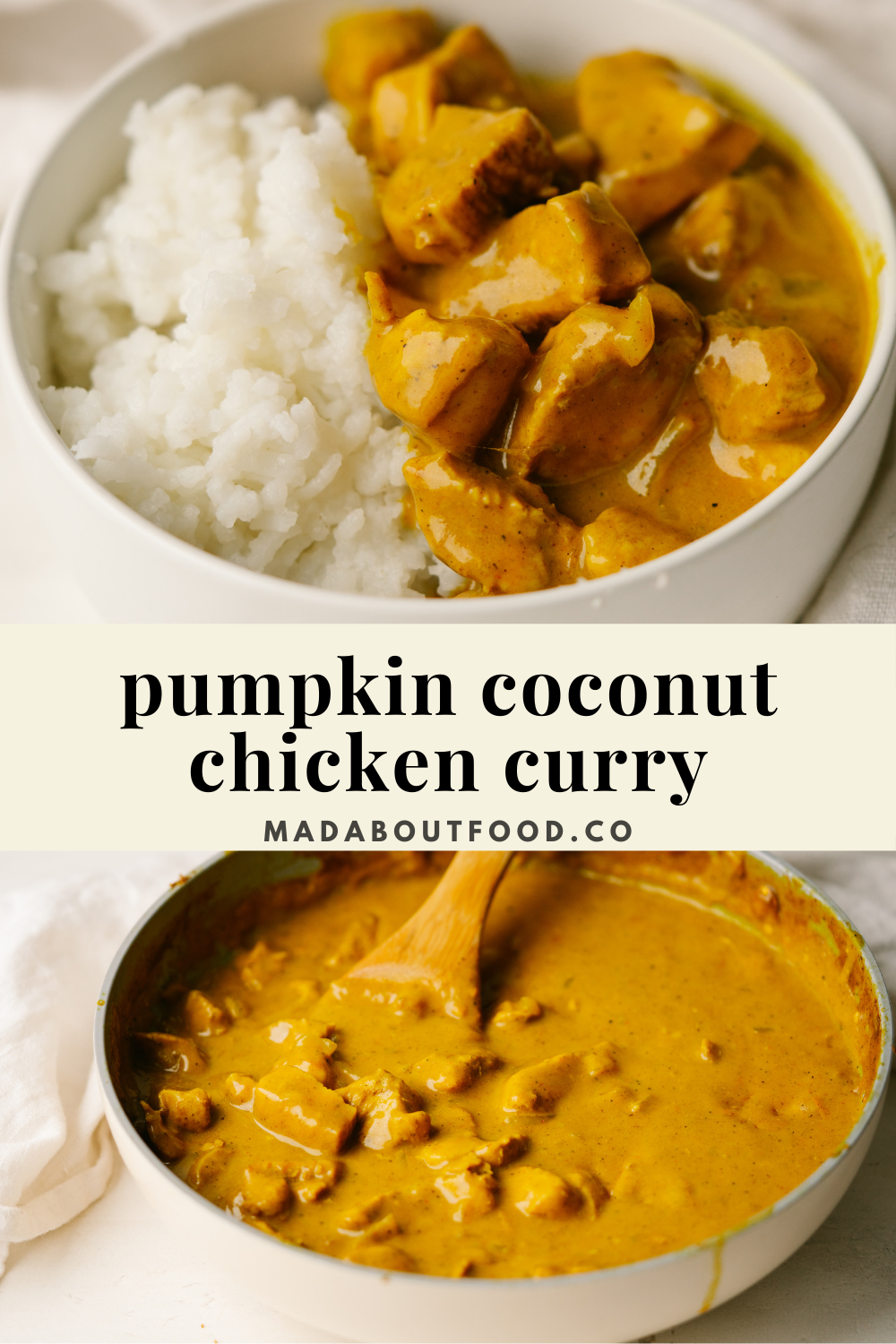 Pumpkin Coconut Chicken Curry Mad About Food Recipe In 2020 Easy Chicken Dinners Healthy Chicken Curry Curry Chicken