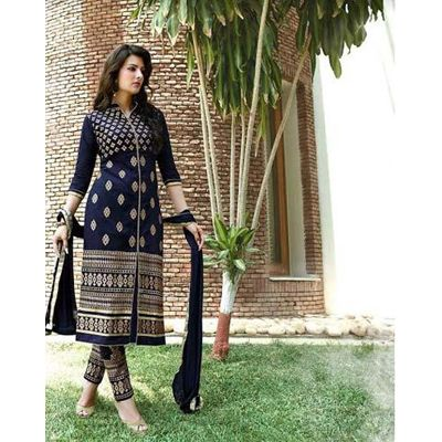 Buy Aashvi Creation Blue Cotton Dress Material By Undefined, On