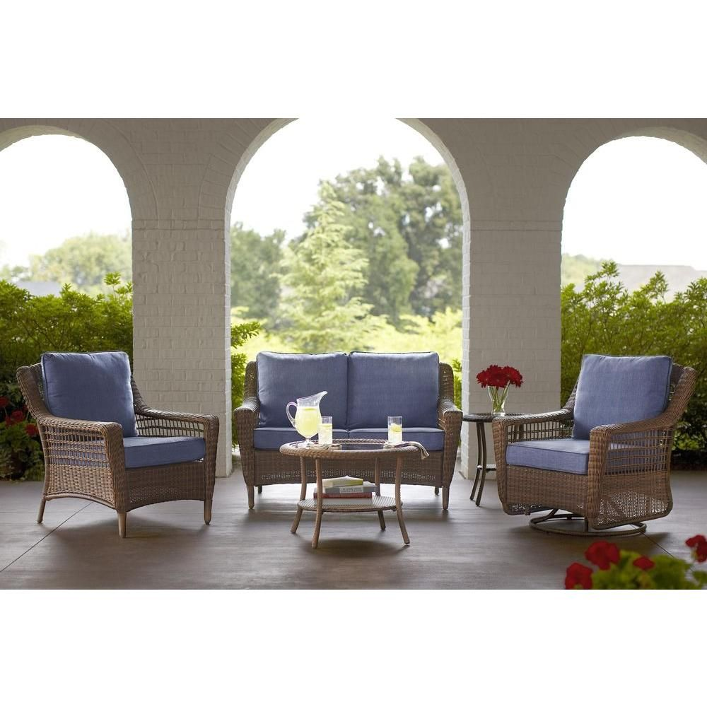 resin shop coffee oakland pd cushion patio wicker living com loveseat at lowes