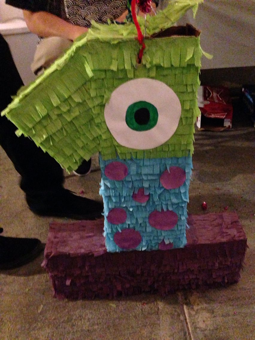 Celina Küchen Finn Diy Monsters Inc Pinata I Made Cumple Mellis Fiesta De Monster