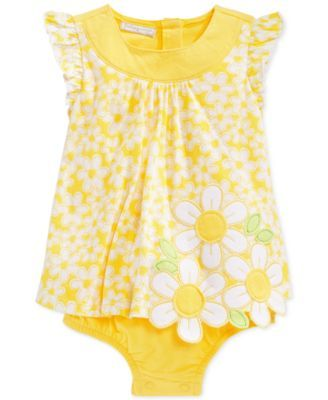 First Impressions Baby Clothes Beauteous First Impressions Baby Girls' Yellow Daisy Sunsuit Only At Macy's Inspiration Design