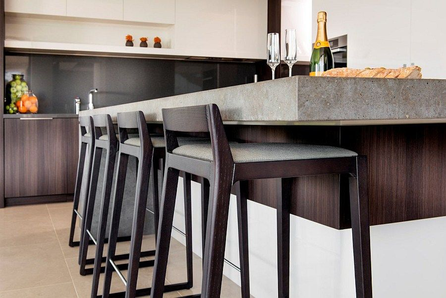 simple sleek bar stools modern kitchen island coldwell banker action