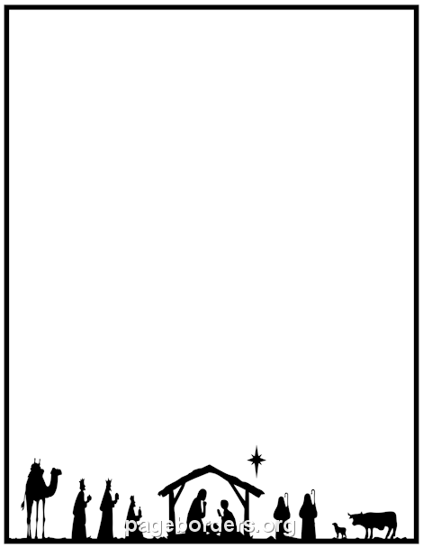 35+ Christmas Border Clipart Free Black And White