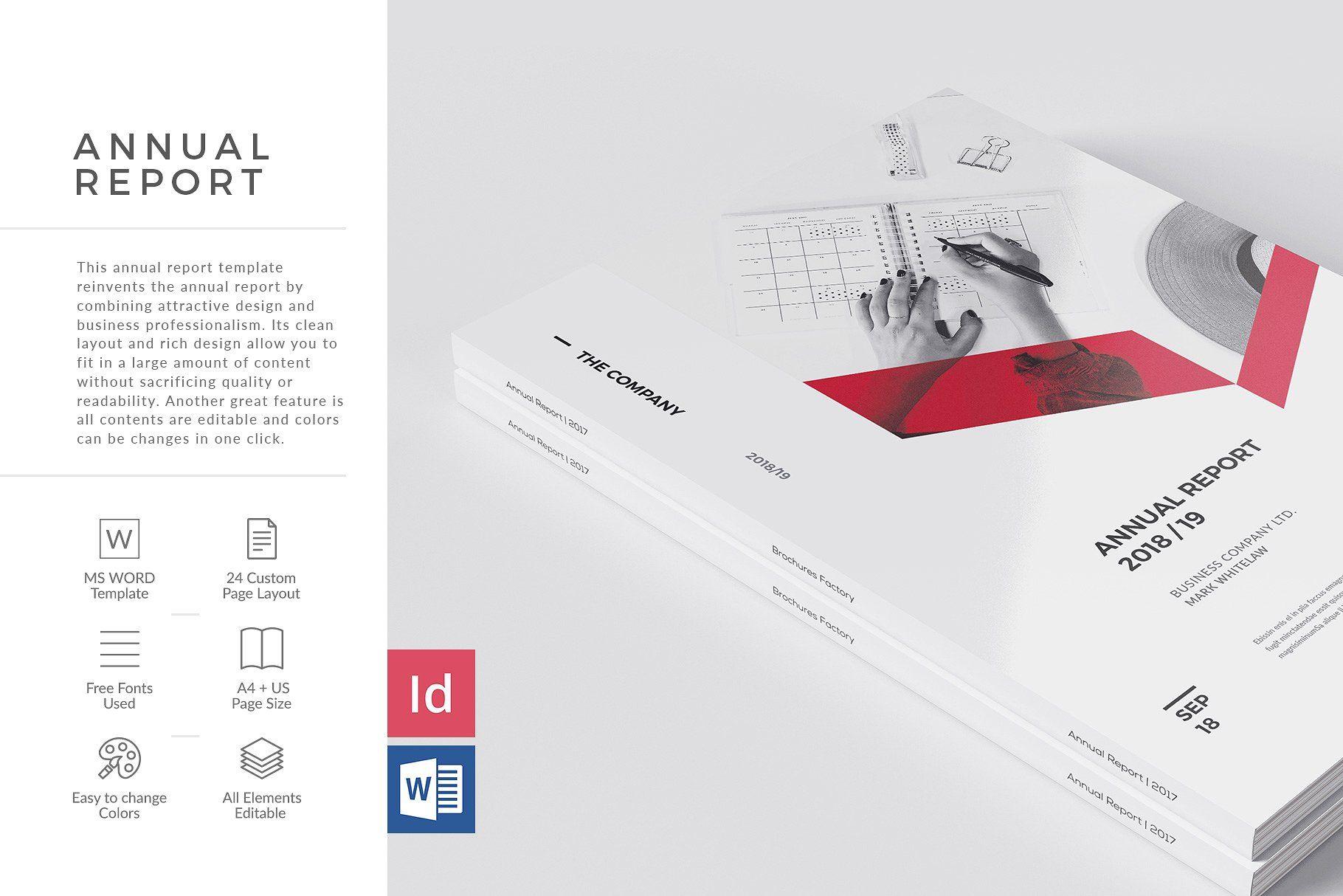 Sharp Annual Report Brochure Design Template Print Design