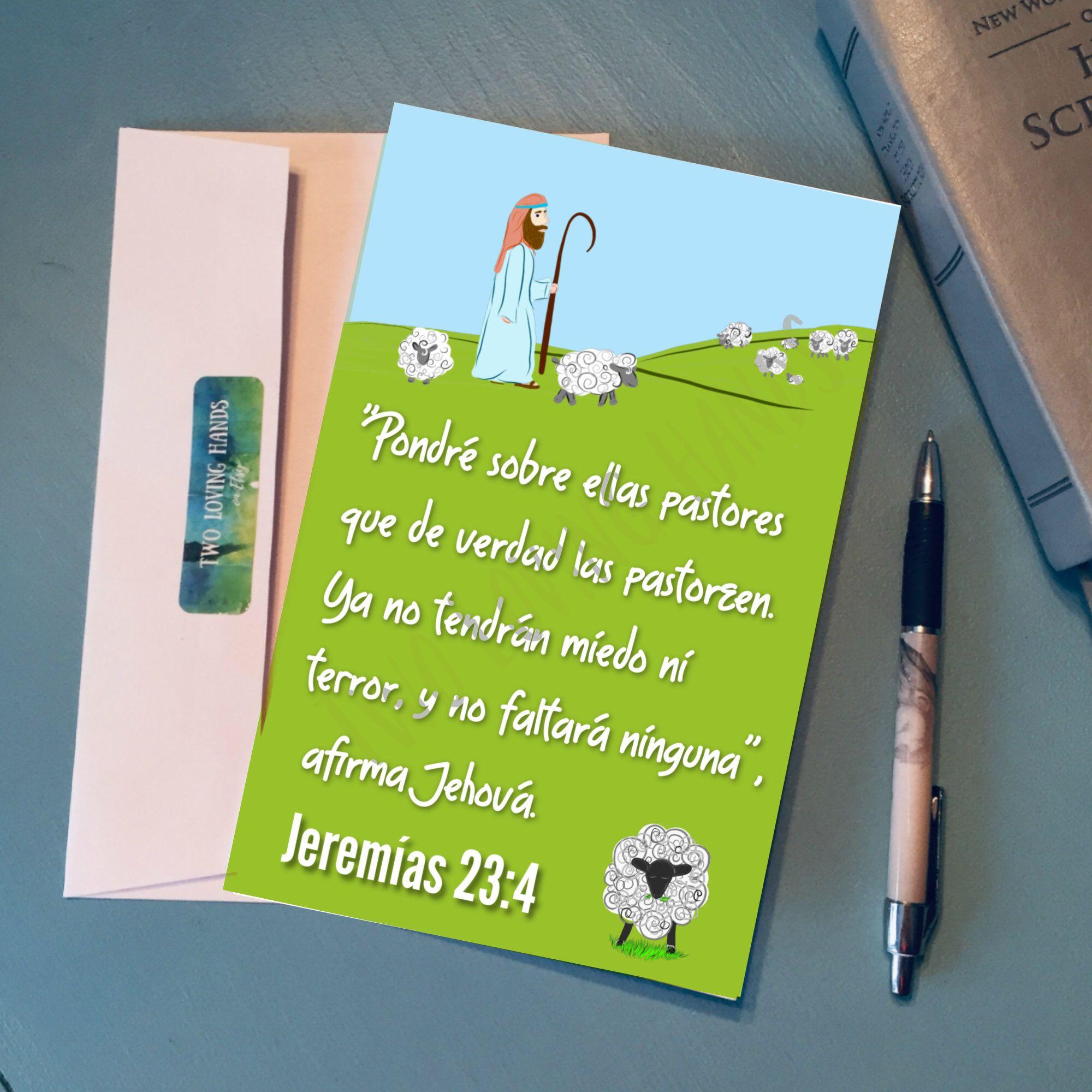 Jeremias 234 elder appreciation card thank you card jw
