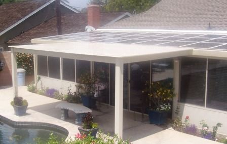 solid white vinyl patio cover adds the