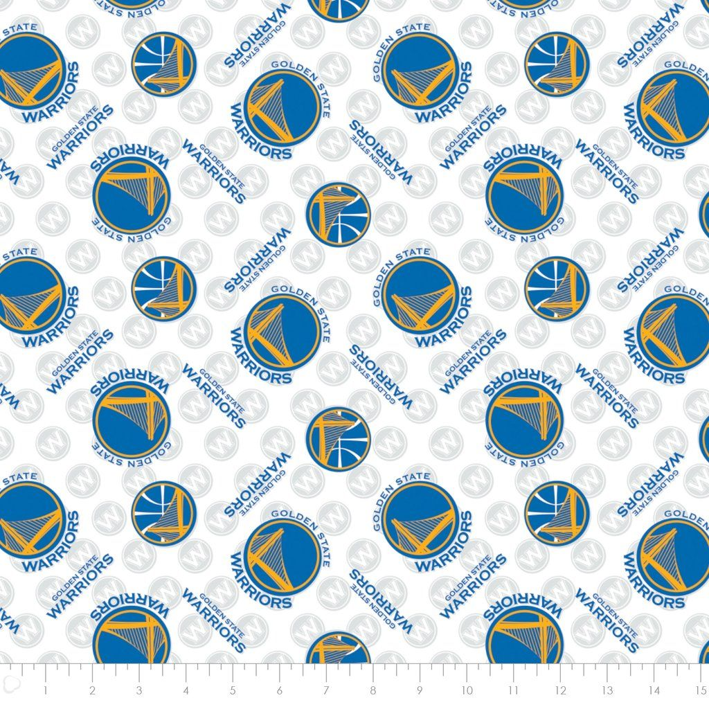 Golden State Warriors All Over NBA Licensed Cotton Fabric