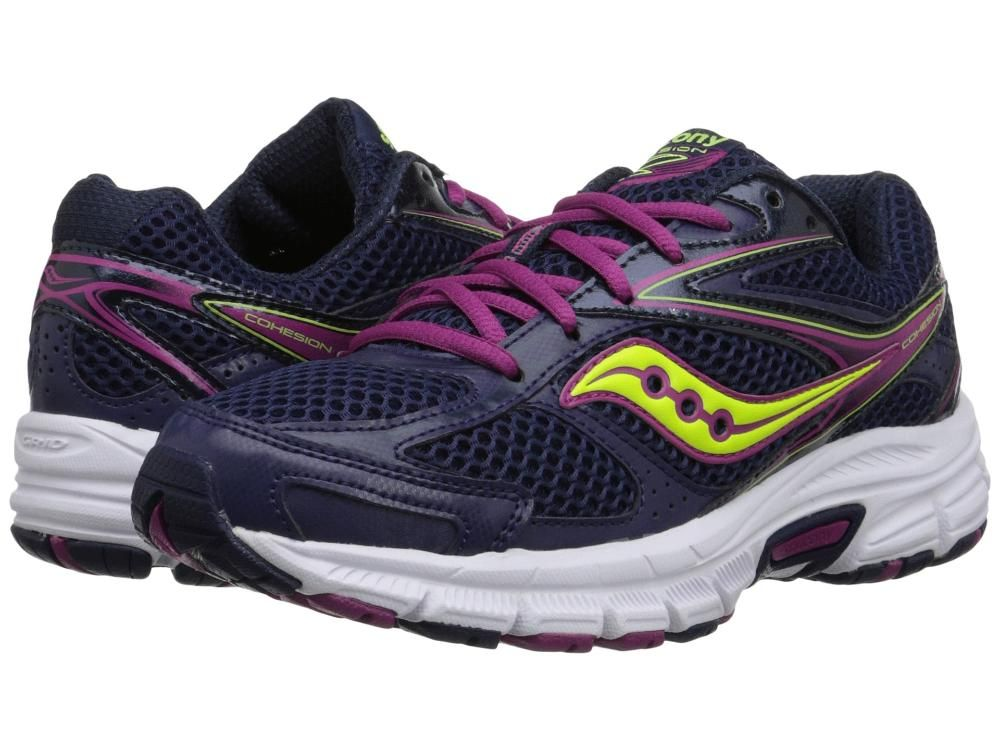 Womens Shoes Saucony Cohesion 8 Navy/Berry/Citron