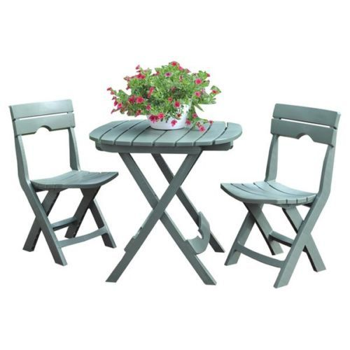 green 3 piece bistro set table folding outdoor dining patio furniture balcony