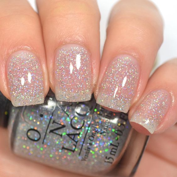 Glitter By Opi Miladies Net Clear Glitter Nails Nail Polish Nail Colors