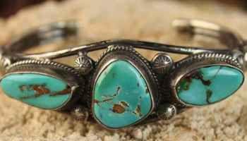 Easter Blue Turquoise Bracelet by Virgil Begay