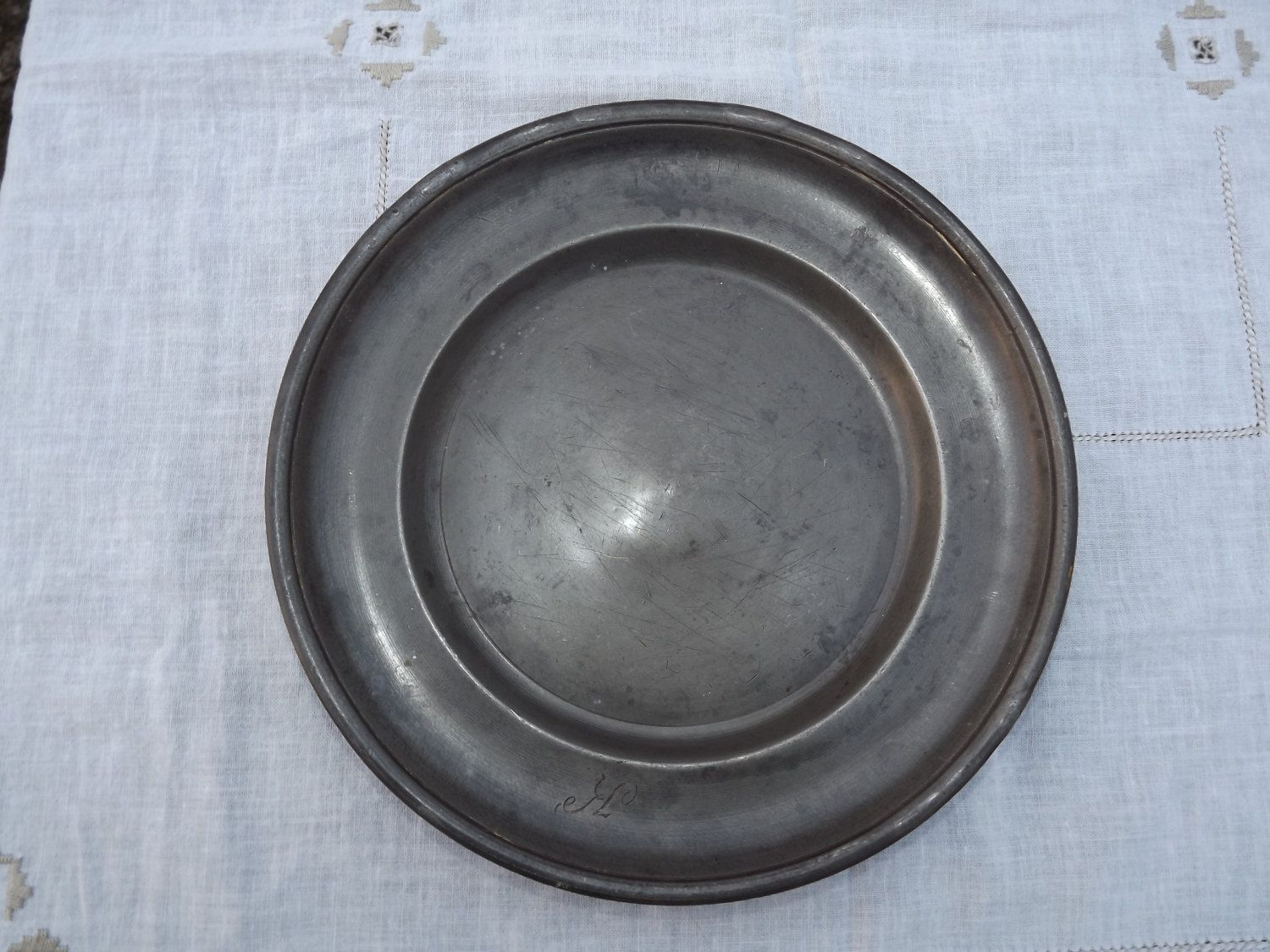 Pewter Plate Hallmark Chart England: Reserved For PJ Balhorn Antique, Pewter, Plate, European