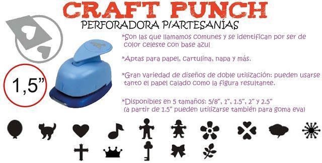 "Flow Insumos Creativos: CRAFT PUNCH 1,5""- PERFORADORA P/ARTESANÍAS"