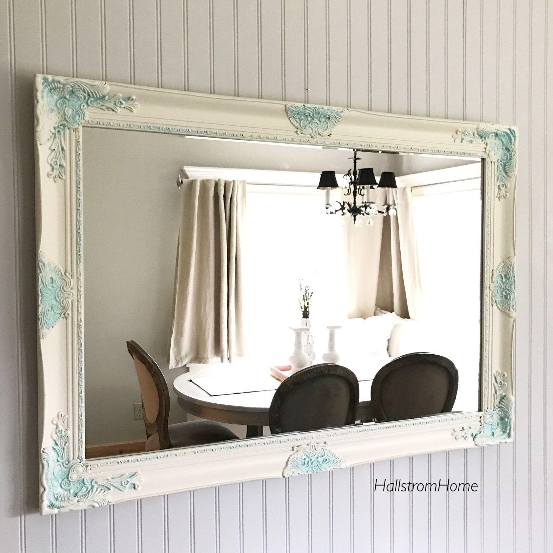 Decorative Wall Mirror Extra Large Bathroom Mirror Vanity Mirror Baroque  Mirror Wall Mirror Ornate Mirror Custom Colors Available