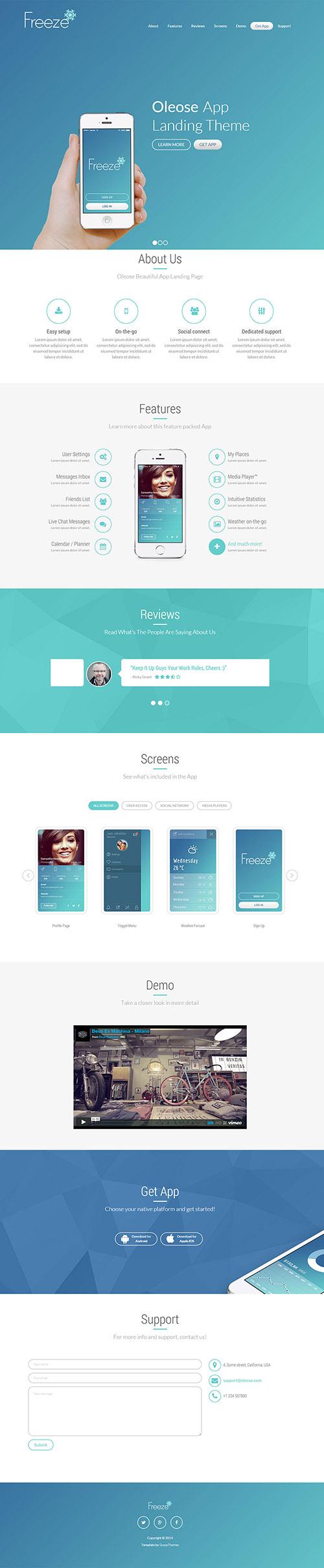 Sharefull.net – HTML Template – Oleose – App Bootstrap Landing Page ...