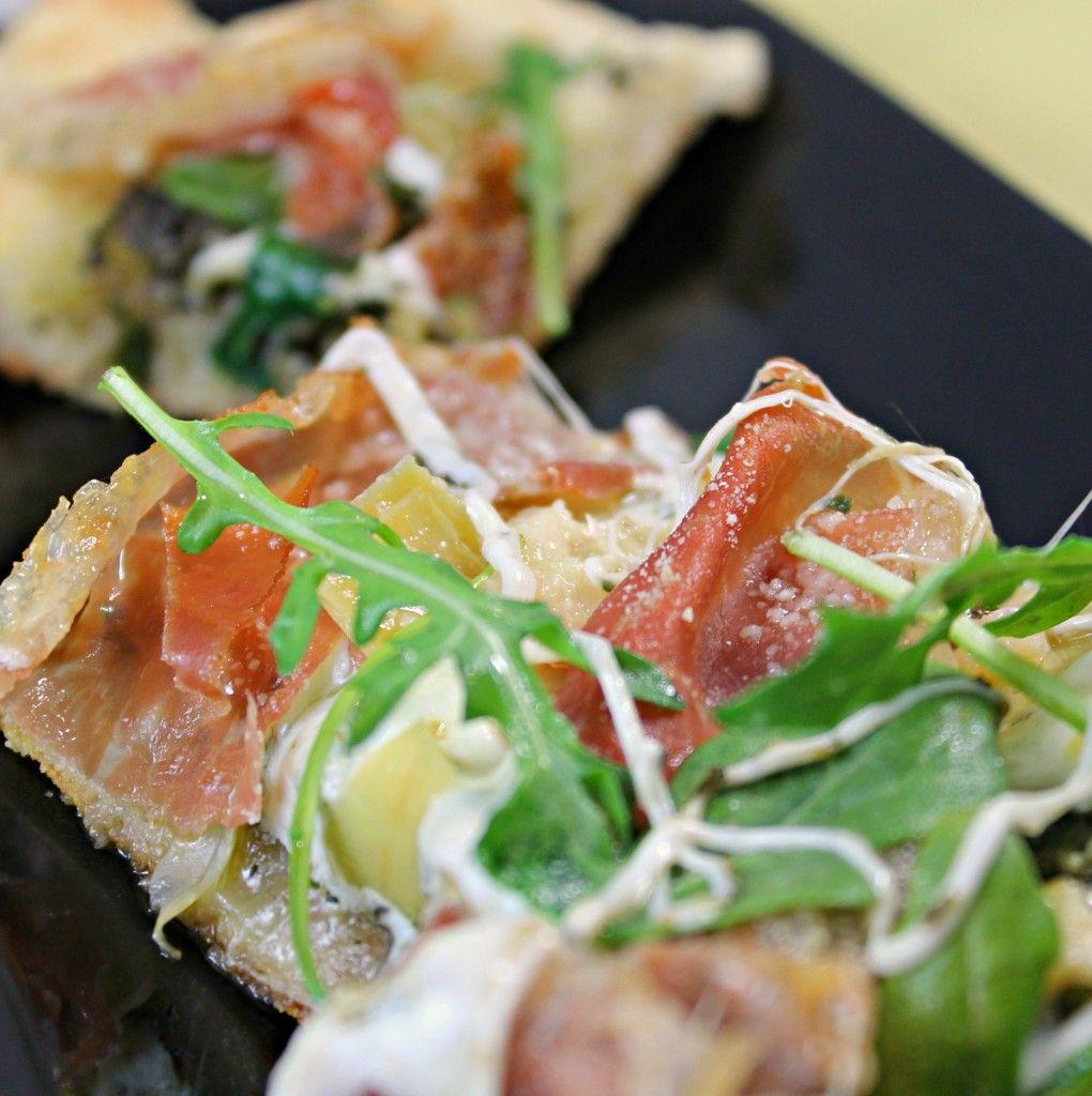 Artichoke and Arugula Pizza with Prosciutto Recipe | I Can ...