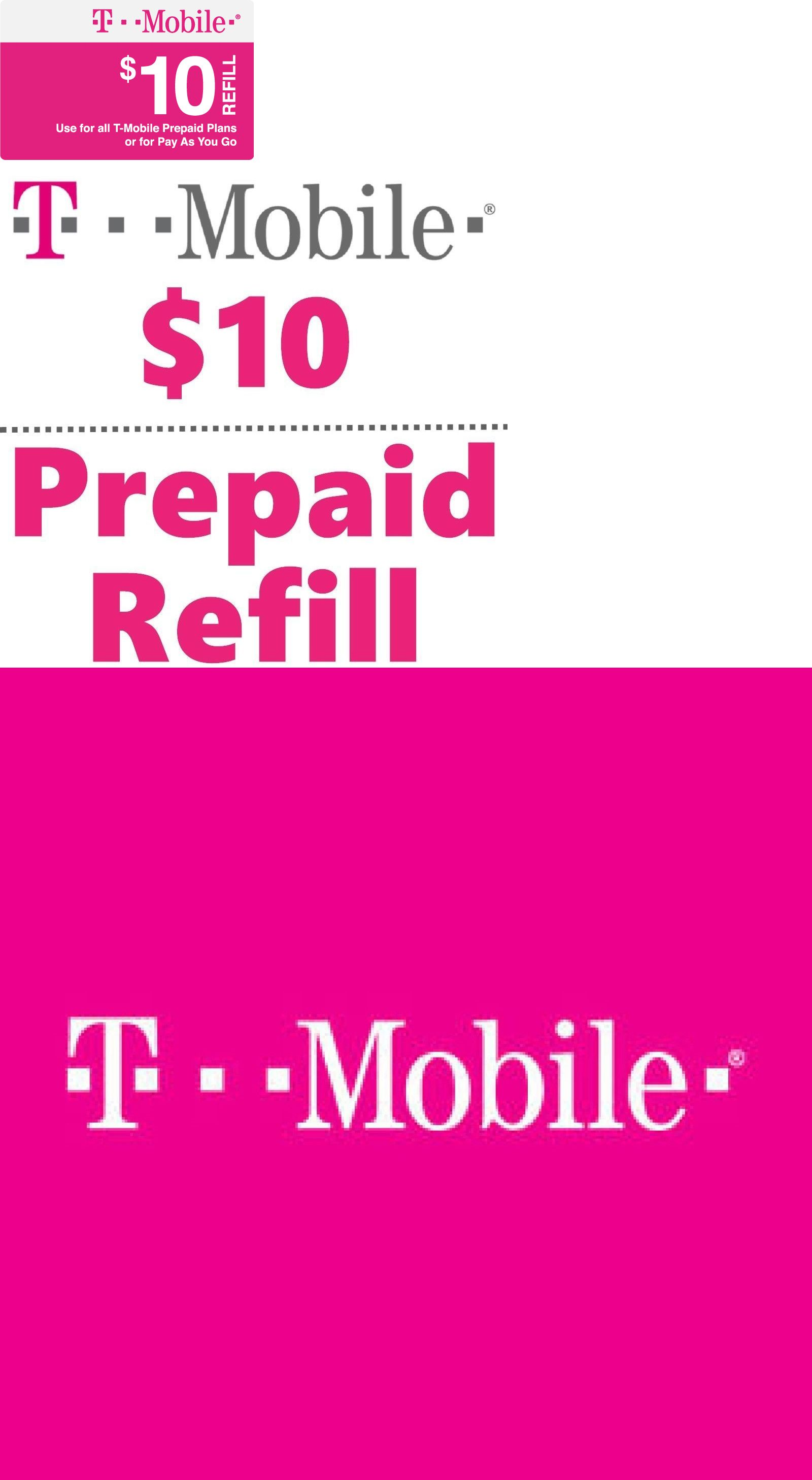 Phone and Data Cards 43308: T-Mobile Prepaid $10 Refill Top
