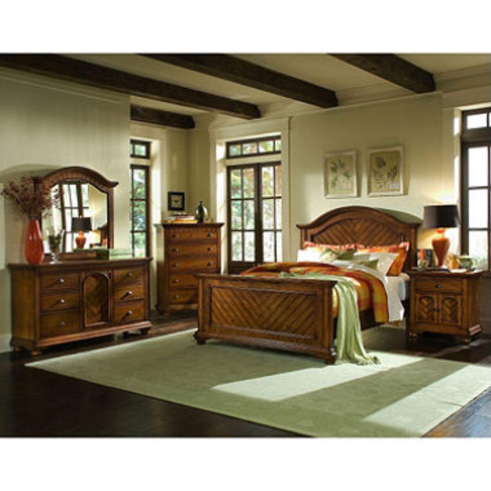 Addison Chestnut Bedroom Set Queen 6 Pc Bedroom Furniture