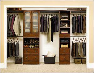My tiny bedroom closet! Sauder again...