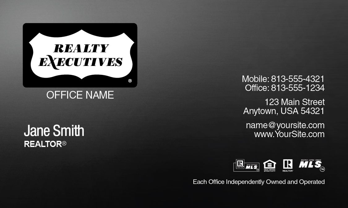 Gradient Realty Executives Business Card Template Design. | Realty ...