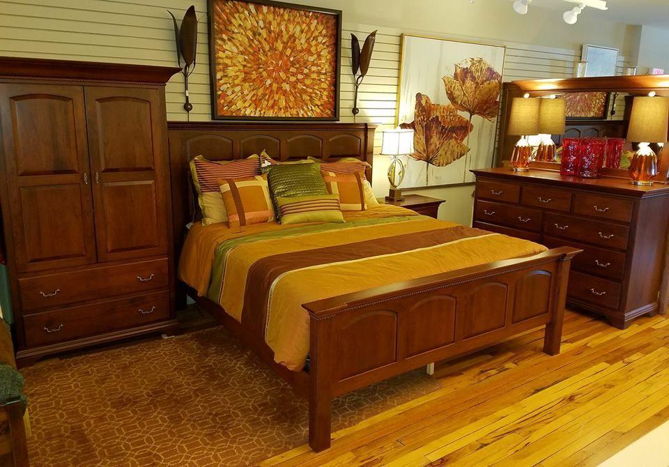 Cherry Bedroom set with King Bed, 1 Nightstand, Dresser