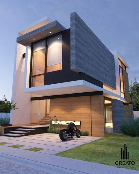 CREATO Modern Exterior Pinterest Architecture, Maison moderne - facade de maison contemporaine