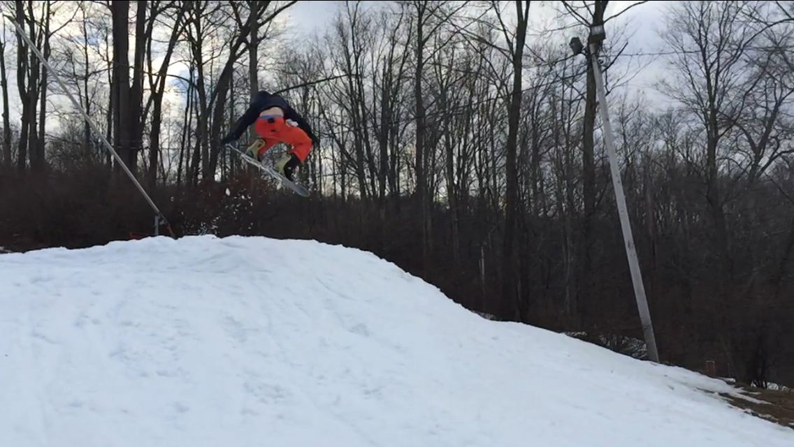 Hitting those 3's at Shawnee with a little nosegrab