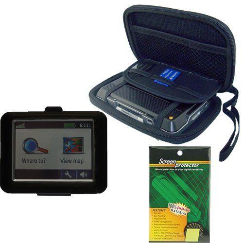 Garmin GPS Bundle Pack Combo: Black Silicone Skin, Black EVA