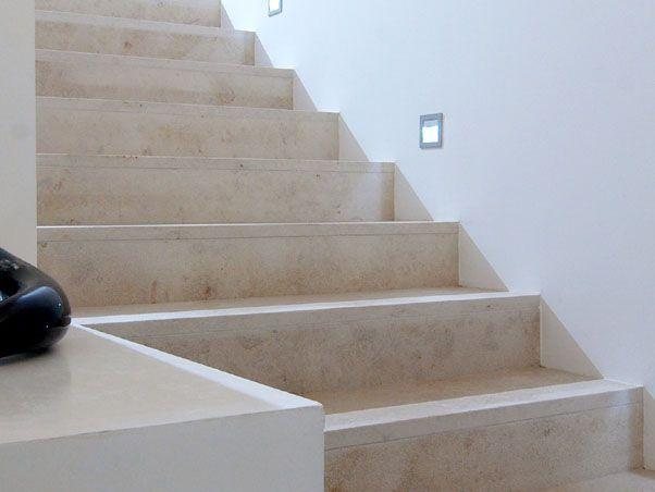 Jura Beige Limestone Stairsflush with no trim Naturstein - welche treppe fr kleines strandhaus