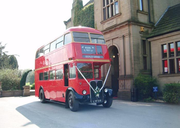 Red London Double Decker Bus Hire Classic Wedding Transport