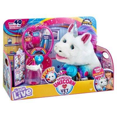 Little Live Rainglow Unicorn Vet Set Little Live Pets Unicorn Toys Unicorn Treats