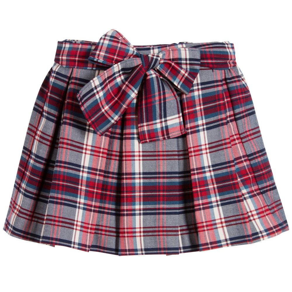 Girls Red & Blue Tartan Skirt | Costura, Vestidos de niñas y Patrón ...