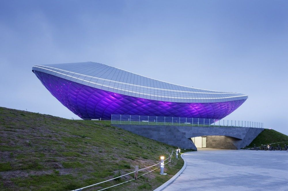 The Arc River Culture Multimedia Theater Pavilion Asymptote Architecture Amazing Architecture Unique Architecture Modern Architecture Design