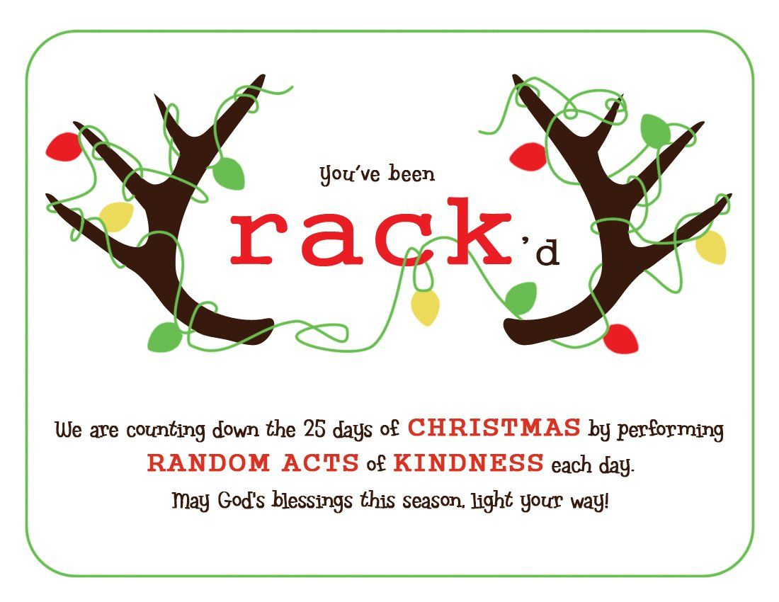another card to use for your Random Acts of Christmas Kindness