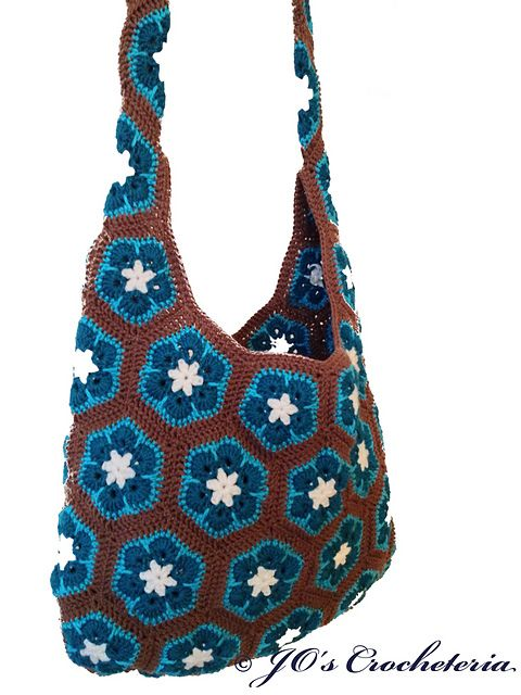 African Flower Shoulder Bag Pattern By Jos Crocheteria Craft Ideas