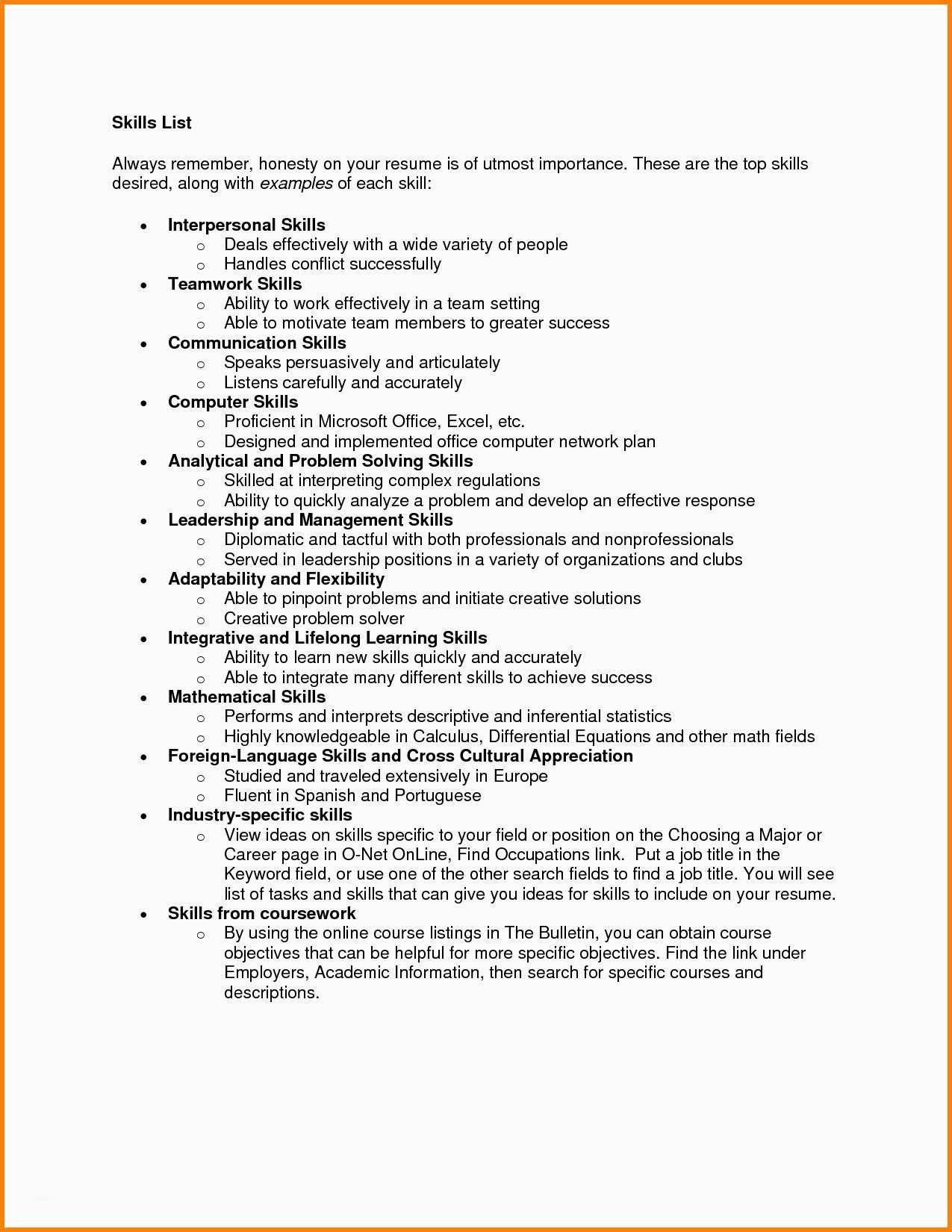 What Is The Resume Tips Skills For A Good Resume Resume Skills List List Of Skills Resume Skills