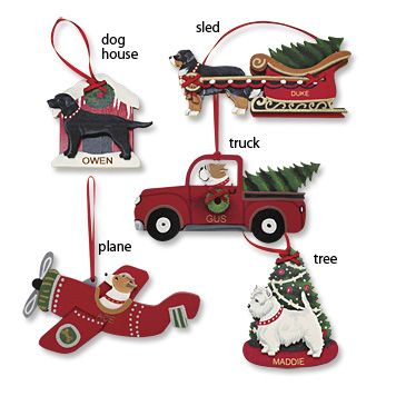 Personalized Dog Breed Christmas Ornaments! From Orvis. 5 styles ...