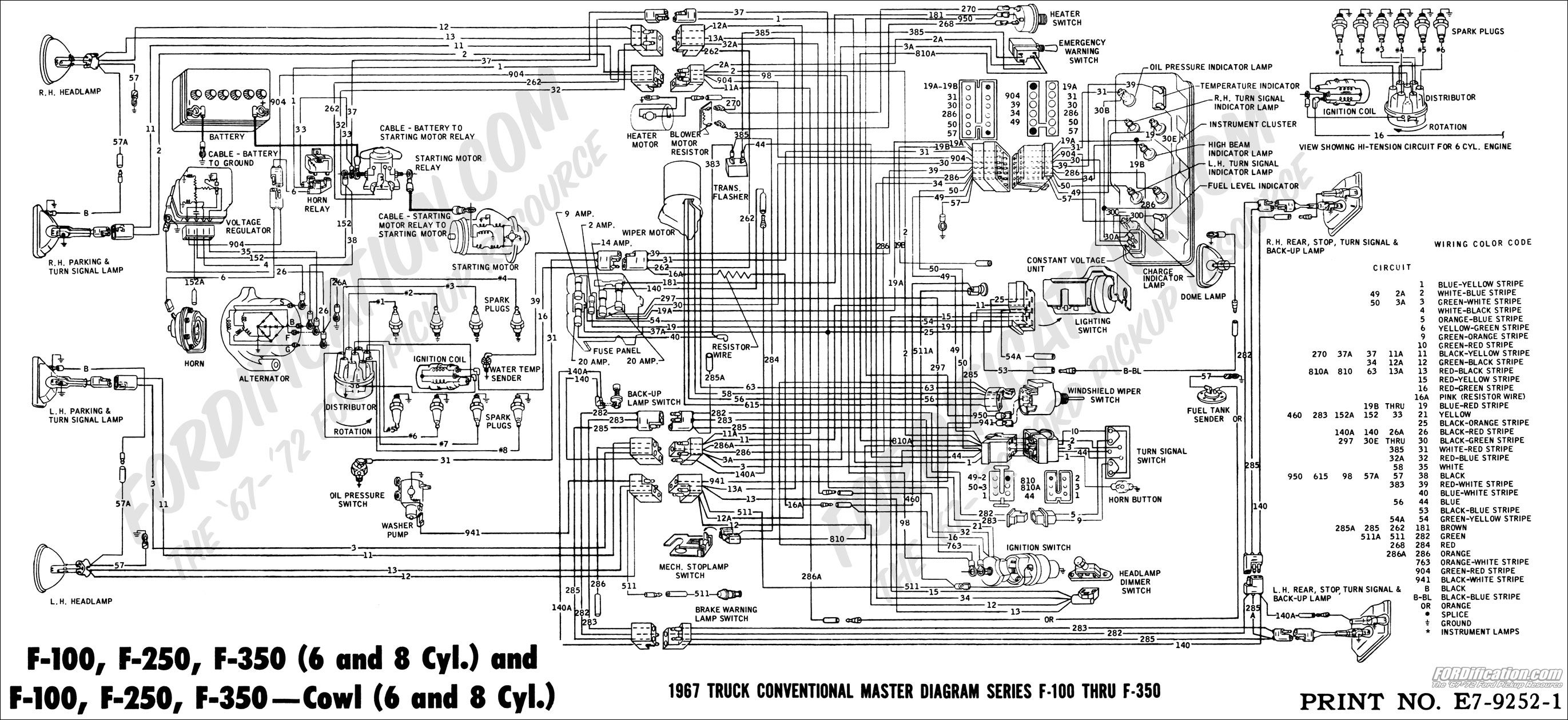 8e608320d8e6c71ff5bbdb2efdd7ada1 ford truck technical drawings and schematics section h wiring 1965 ford f100 dash wiring diagram at gsmx.co