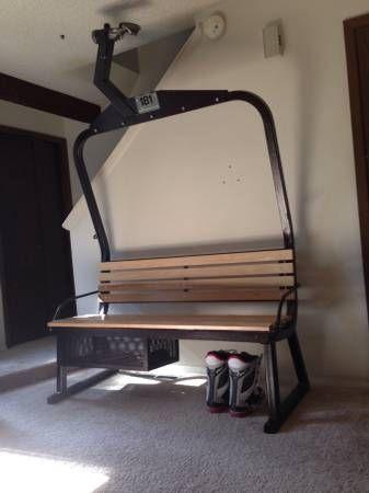 Ski Lift Furniture Boulder, CO Doppelmayr Triple Chair From Beaver Creek  Powder Coated Black W