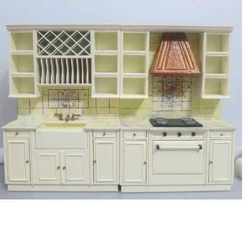 Bespaq Dollhouse Miniature Furniture Kitchen Cabinet