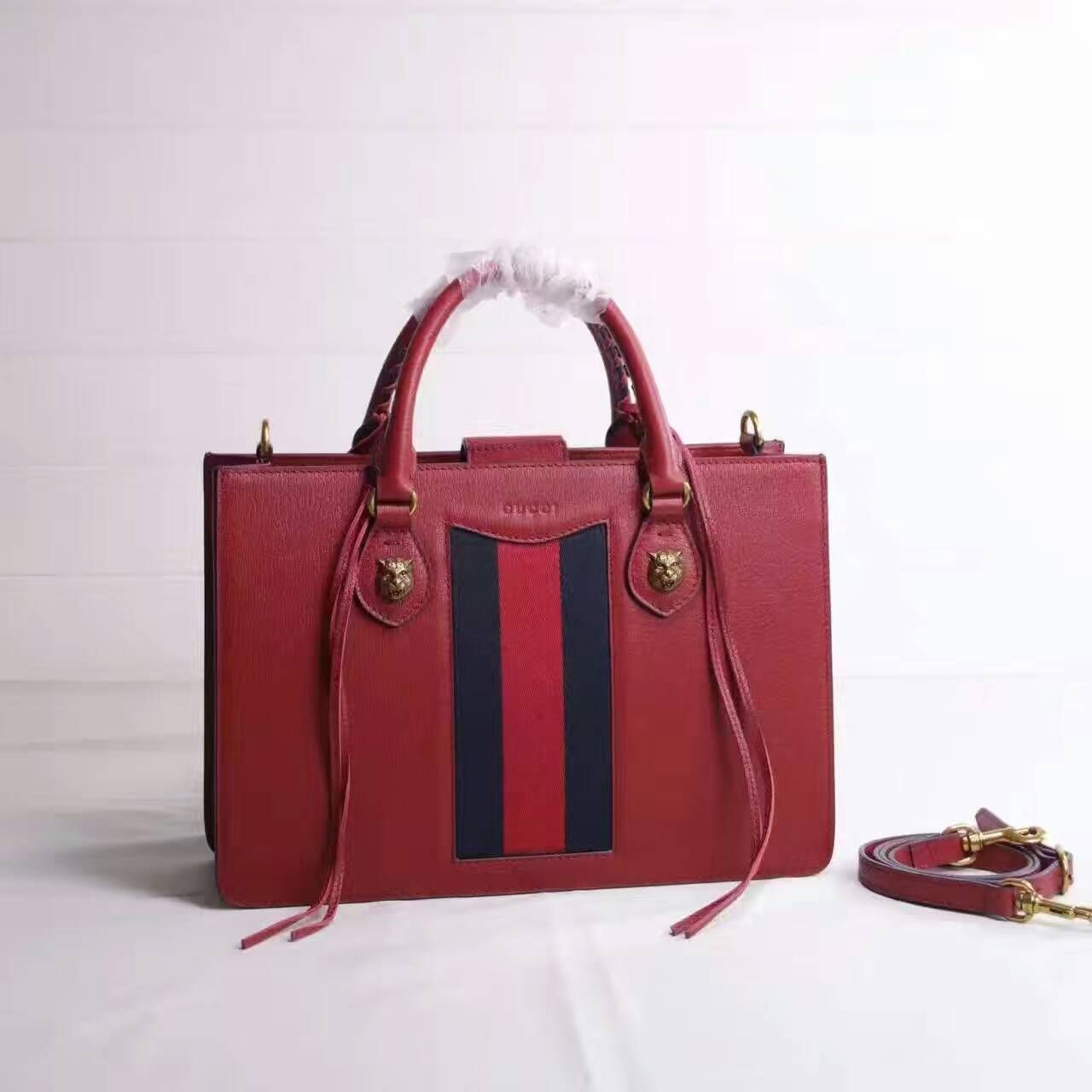 ccae95effb0e Gucci Animalier Animalier leather top handle bag Green/red/green wool web  sewn under the leather 431277 size:32x22x10cm G4 whatsapp:+8615503787453