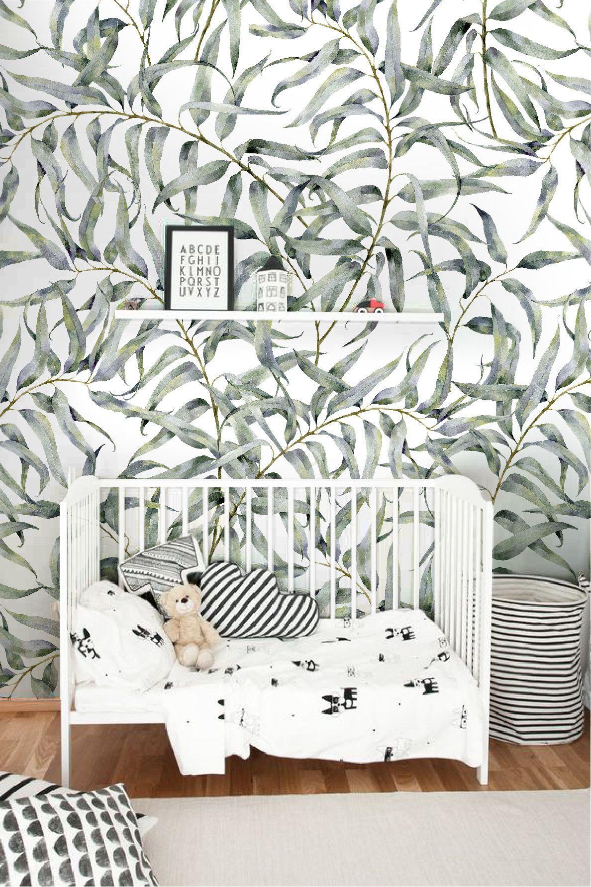Le Papier Peint Est Il Recyclable papier peint amovible feuille d'eucalyptus, jungle papier