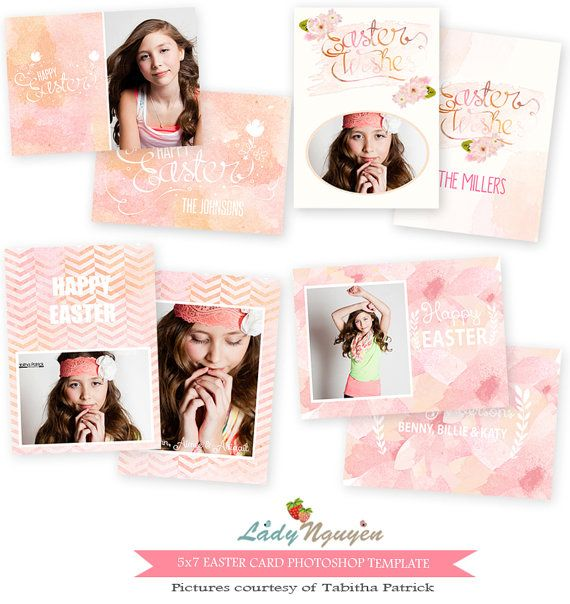 Instant Download X Easter Card Bundle Photoshop Template