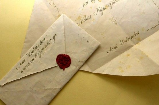 Old Fashioned Letter With Sealing Wax Web Masters Wedding